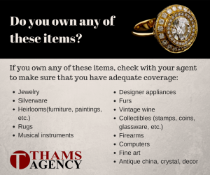 Insuring Your Valuables